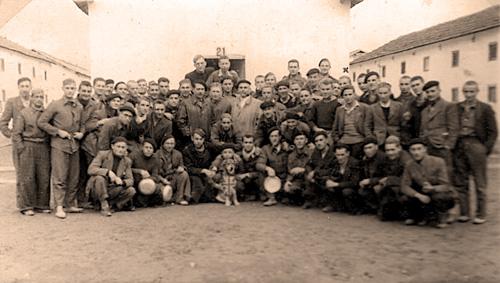 Prisioneros del campo de concentracion de Miranda de Ebro